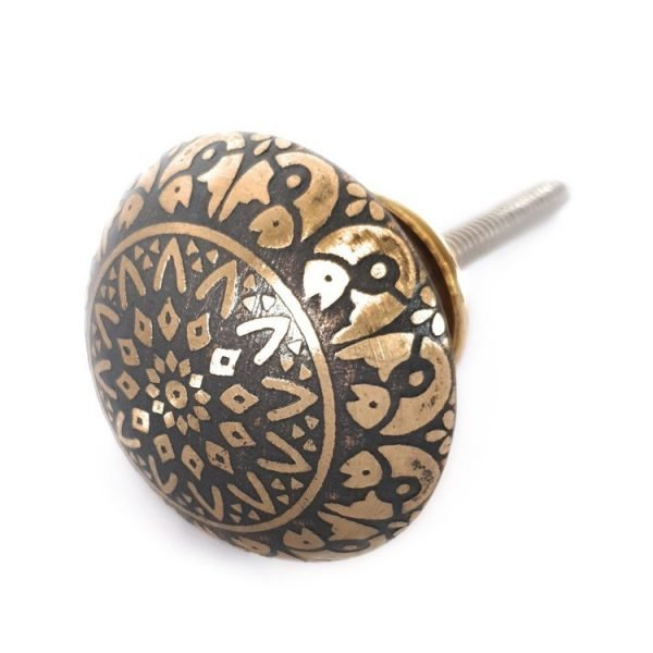 The Fish Knob - Grey from the MKN Range of Panel Beaten Brass and Copper Cabinet Knobs