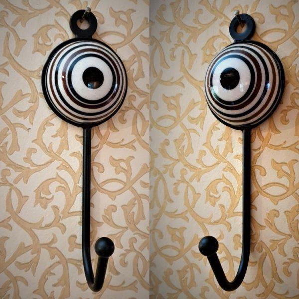 Coat Hooks - Set of 4 Hangers - Art Design