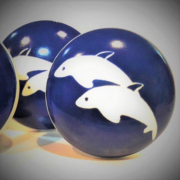 Blue Sea Theme Ceramic Cabinet Knobs - Set of 6