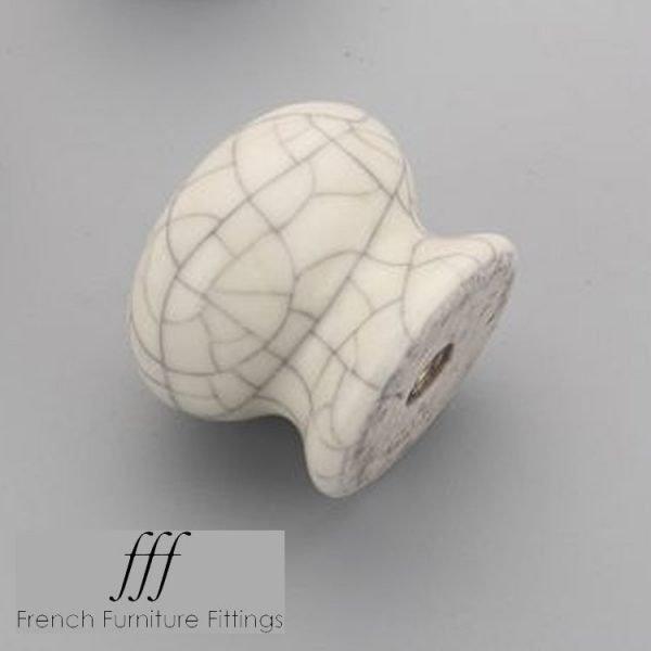 Cream Crackle - Ceramic Cabinet Knobs
