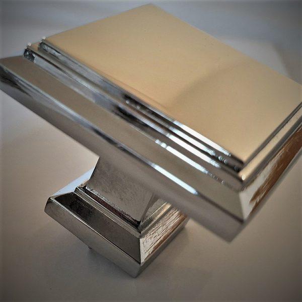 Art Deco Square Kitchen Cabinet Knob