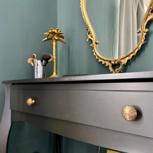 The Tutu Knob - Black from the MKN Range of Panel Beaten Brass and Copper Cabinet Knobs